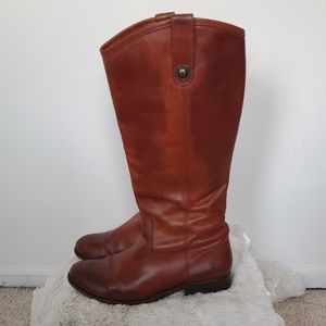 Vintage Brown Frye Melissa Button Riding Boots 9.5